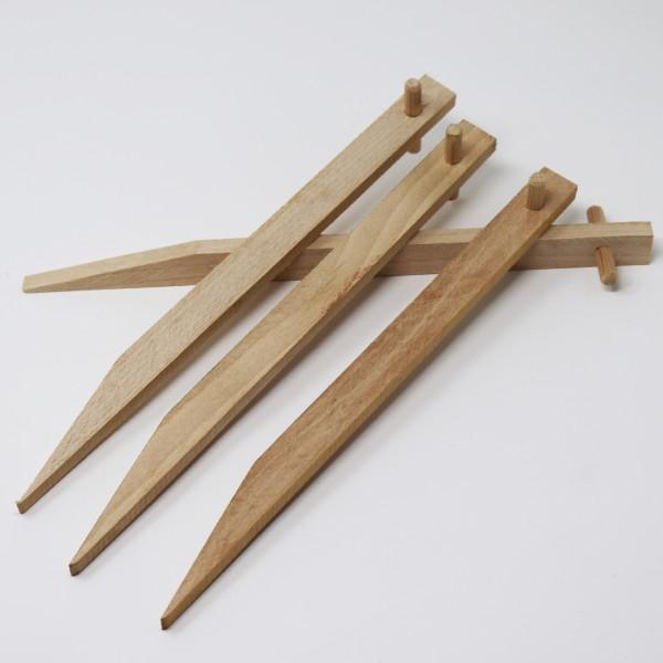40 Erdanker aus Buchenholz I Holz Bodenanker Holzpflock Befestigungsanker