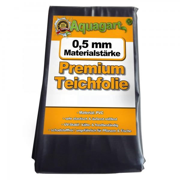Teichfolie PVC 1m x 6m 0,5mm schwarz Folie für den Gartenteich