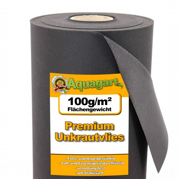 91m² Gartenvlies Unkrautvlies Mulchvlies 100g 1,4m br.