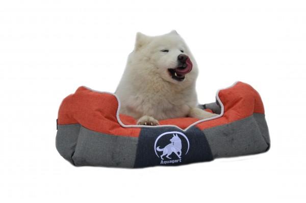 Aquagart® Hundebett orange M 60 x 50cm Hundekissen Hundebetten Hundesofa