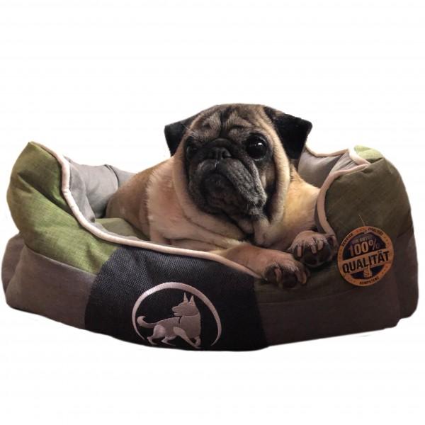 Aquagart® Hundebett grün M 60 x 50cm Hundekissen Hundebetten Hundesofa