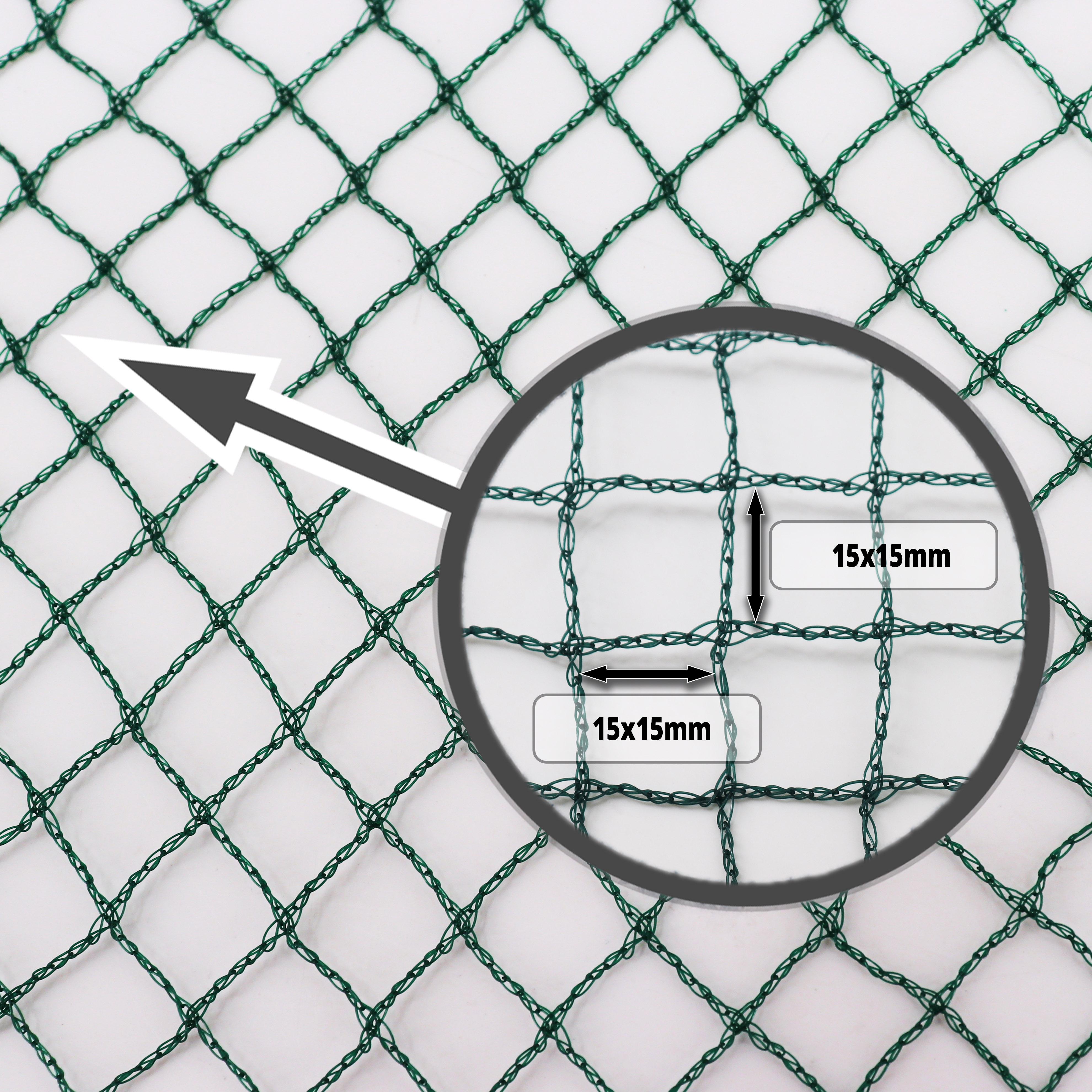 Teichnetz 16m x 6m Laubnetz Netz Vogelschutznetz robust