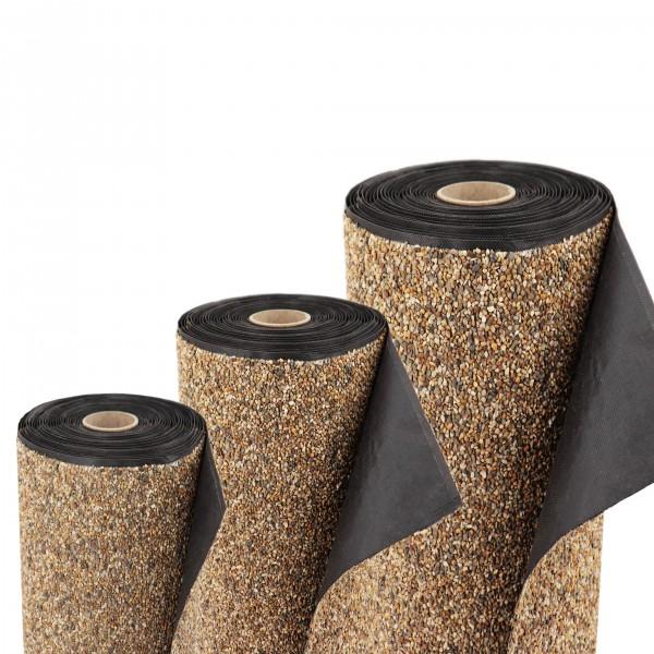 Steinfolie 18m x 0,4m breit Für Teichrand Bachlauf Teichfolie Teich Sandfarben