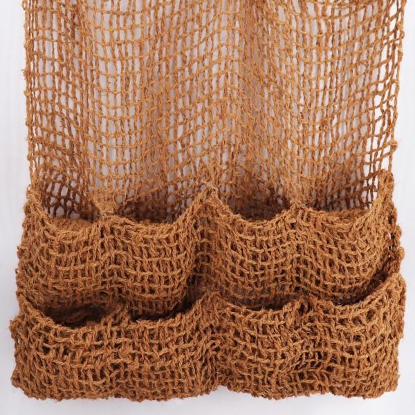 4 Pflanztaschen Kokosgewebe 8 Taschen Ufermatte Böschungsmatte für Teichfolie