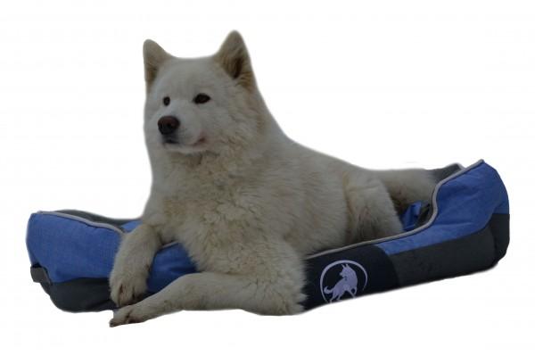 Aquagart® Hundebett blau M 60 x 50cm Hundekissen Hundebetten Hundesofa