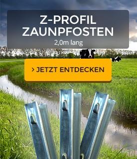 Komplett Neu Z-Profil Zaunpfosten | Forst- & Weidezaun | aquagart.de EQ85