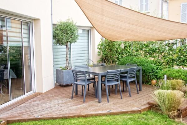 Sonnensegel 5m x 5m x 5m Dreieck Sandfarben Sonnenschutz Windschutz Sonnendach