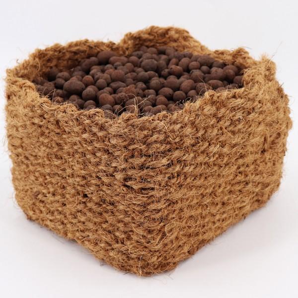 4 Kokos Pflanzkorb 20 x 20 x 15cm Teichkorb für Ufermatte & Böschungsmatte
