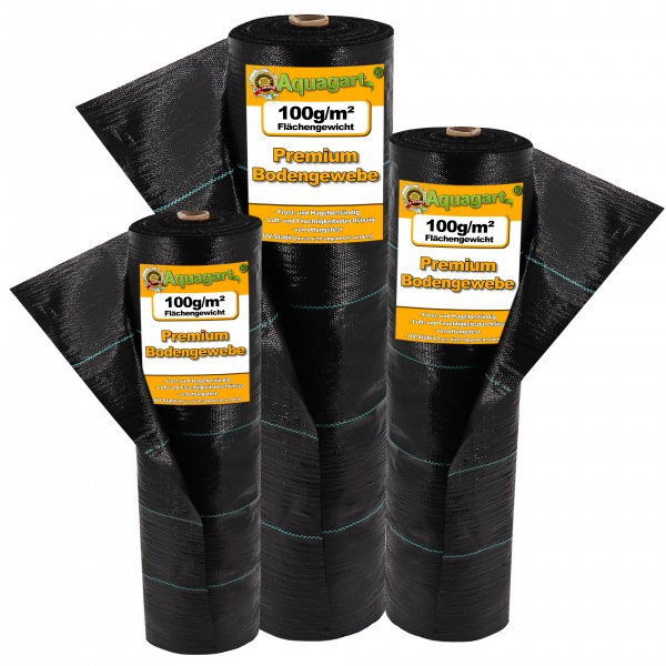 32m² Bodengewebe Unkrautfolie Mulchfolie 100g 1m breit schwarz