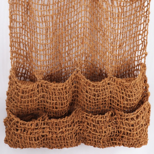 6 Pflanztaschen Kokosgewebe 8 Taschen Ufermatte Böschungsmatte für Teichfolie