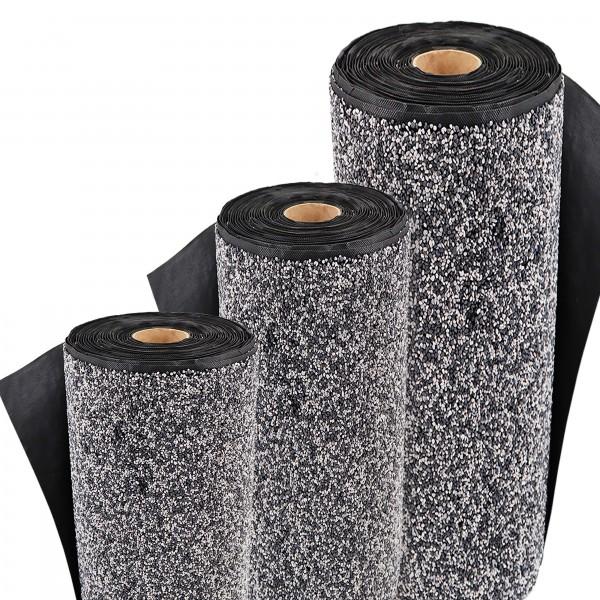 Steinfolie 18m x 1m breit Für Teichrand Bachlauf Teichfolie Kiesfolie Grau