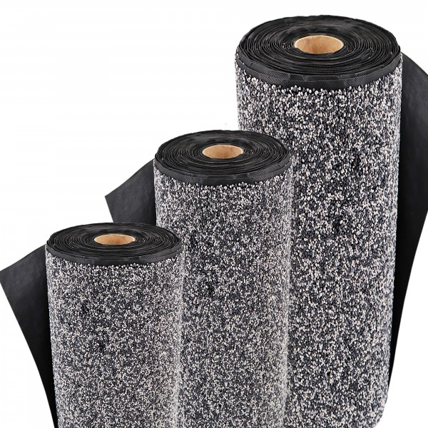 Steinfolie 12m x 0,4m breit Für Teichrand Bachlauf Teichfolie Kiesfolie Grau