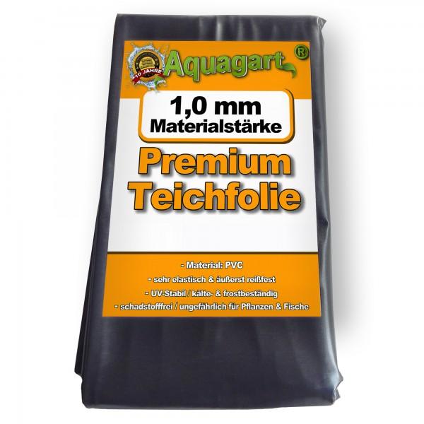 Teichfolie PVC 8m x 6m 1,0mm schwarz Folie für den Gartenteich