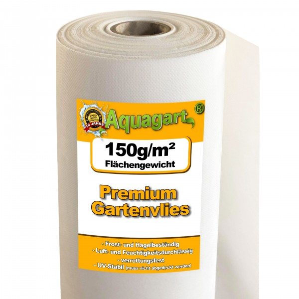 75m² Gartenvlies Unkrautvlies Unkrautfolie Mulchvlies 150g/m² weiß 2m breit