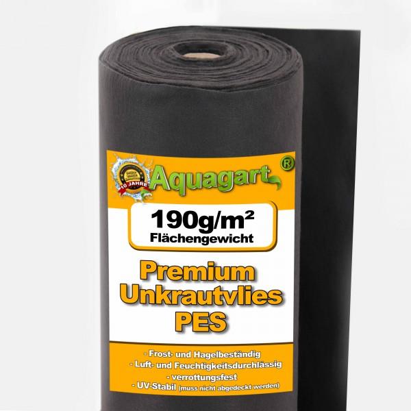 50m² Unkrautvlies Gartenvlies Mulchvlies Bodengewebe 190g 1m breit PES
