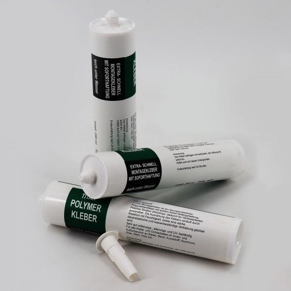 6 x Kleber Ufermatte Steinfolie Böschungsmatte für die Teichfolie 290 ml weiß